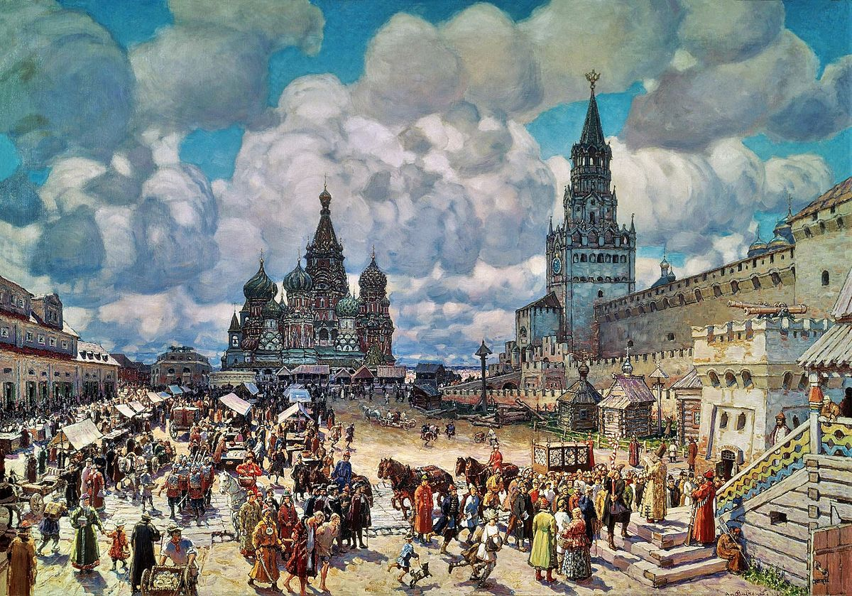 Red Square by Apollinary Mikhaylovich Vasnetsov